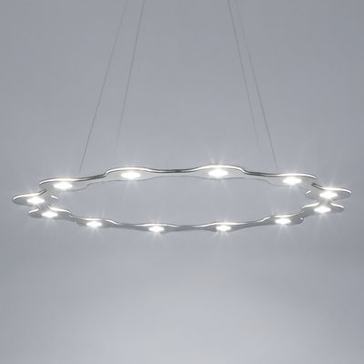 Suspension Flat Ring 12 / LED - Large Ø 98 cm - Lumen Center Italia aluminium en métal