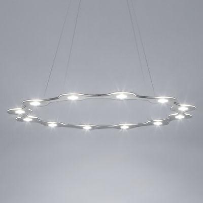 Suspension Flat Ring 12 / LED - Large Ø 98 cm - Lumen Center Italia aluminium en métal