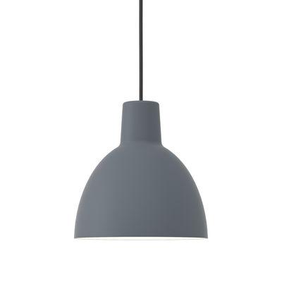 Luminaire - Suspensions - Suspension Toldbod / Ø 25 cm - Aluminium - Louis Poulsen - Bleu-gris - Aluminium