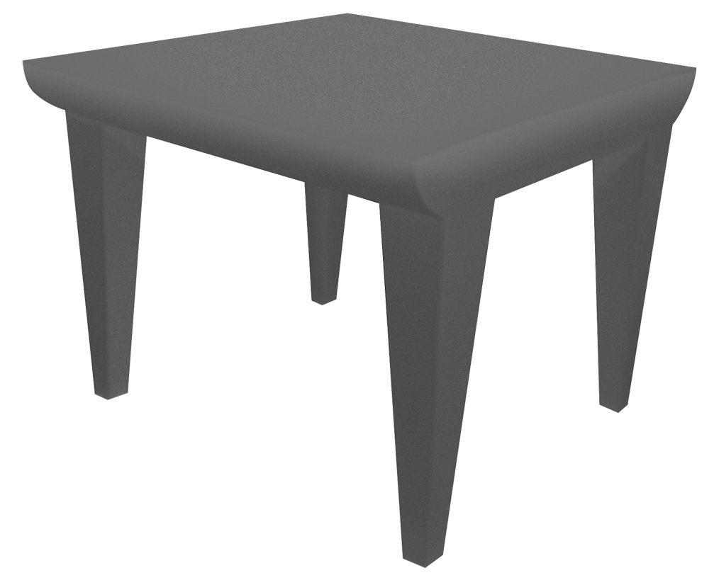 Mobilier - Tables basses - Table basse Bubble Club / 51 x 51 cm - Kartell - Gris Clair - Polyéthylène