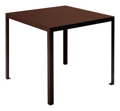 Jardin - Tables de jardin - Table carrée Rusty / 80 x 80 cm - Zeus - Rouille - 80 x 80 cm - Acier peint