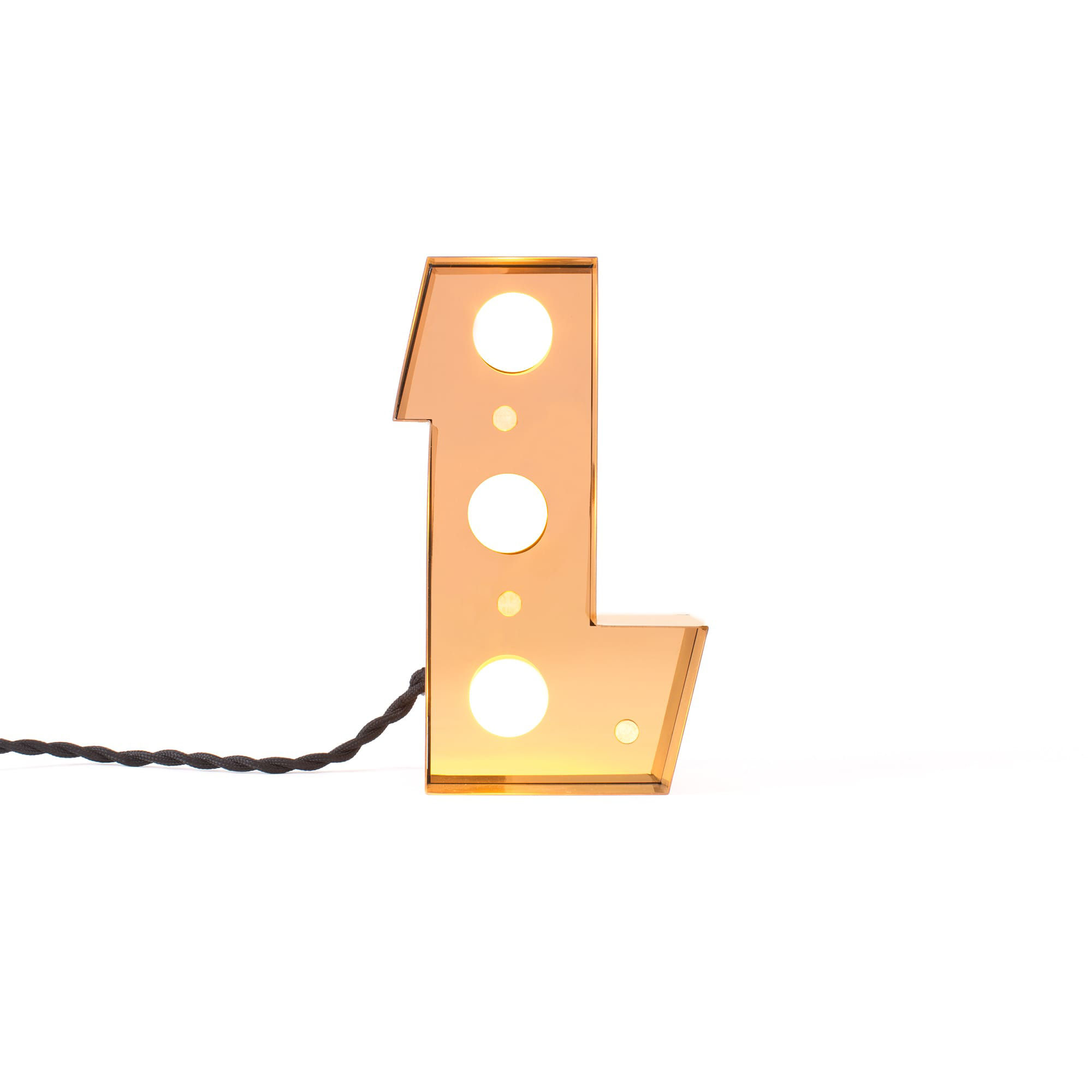 Decoration - Children's Home Accessories - Caractère Table lamp - / Wall light - Letter L - H 20 cm by Seletti - L - Lacquered metal