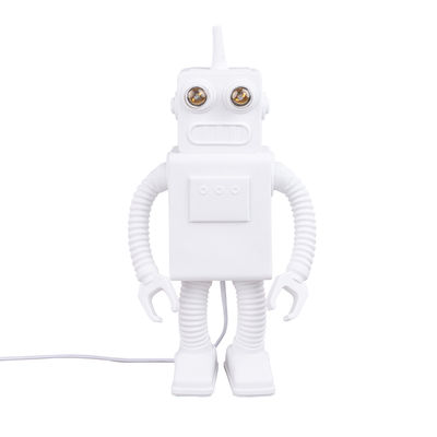 Lighting - Table Lamps - Robot Table lamp - / Porcelain - H 40 cm by Seletti - White - China