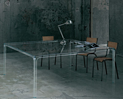 Table Oscar / 140 x 140 cm - Glas Italia transparent en verre