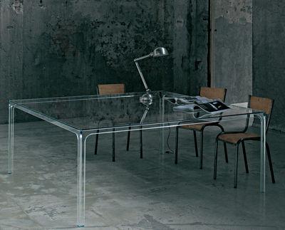 Table Oscar / 190 x 190 cm - Glas Italia transparent en verre