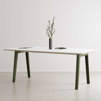 Table rectangulaire New Modern / 190 x 95 cm - Stratifié / 8 à 10 personnes - TIPTOE vert en métal/bois