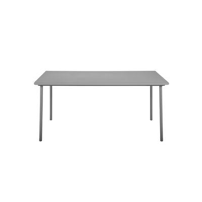 Table rectangulaire Patio / Inox - 140 x 80 cm - Tolix gris souris en métal