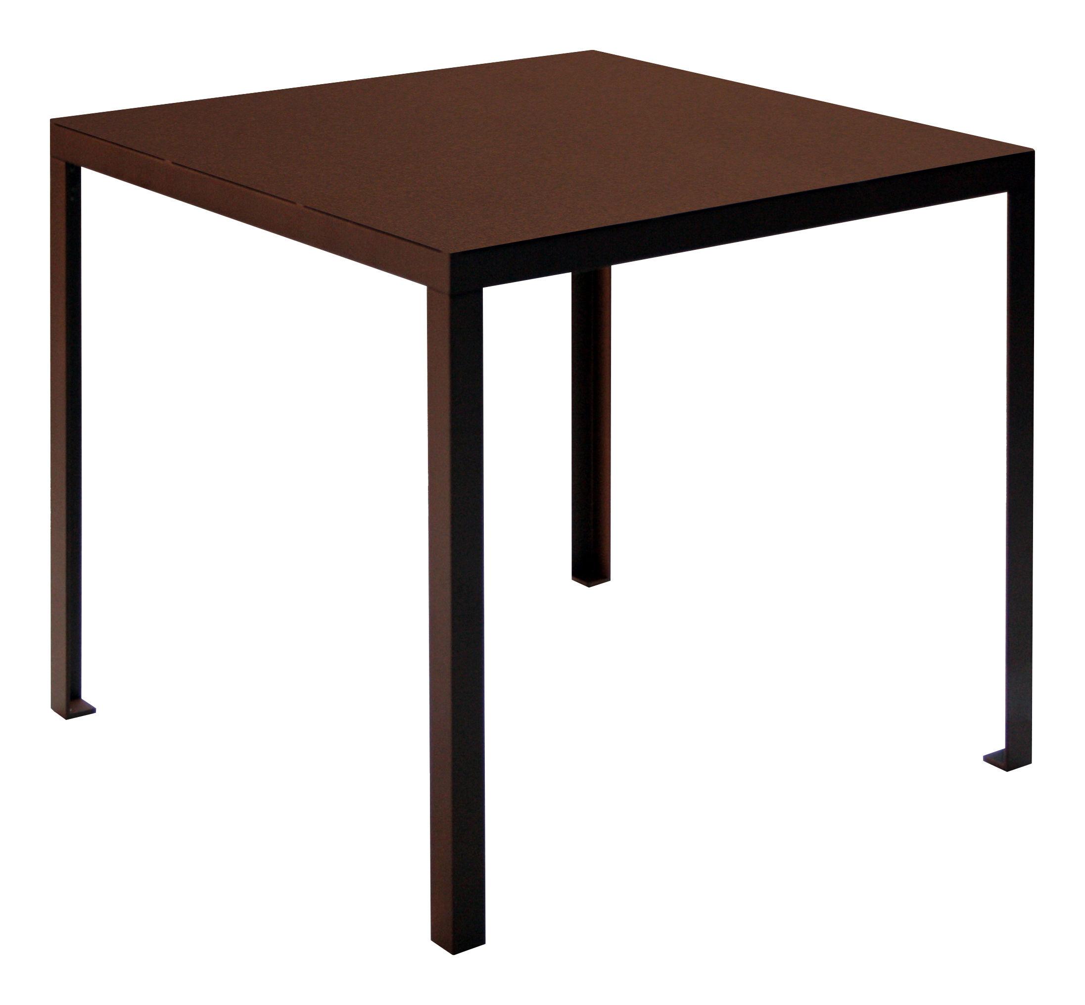 Outdoor - Garden Tables - Rusty Table - 80 cm x 80 cm by Zeus - Rust - 80 x 80 cm - Painted steel