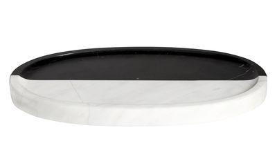 Accessoires - Accessoires für das Bad - Canaan Tablett / 27 x 15 cm - Marmor - Jonathan Adler - Schwarz & weiß - Marmor