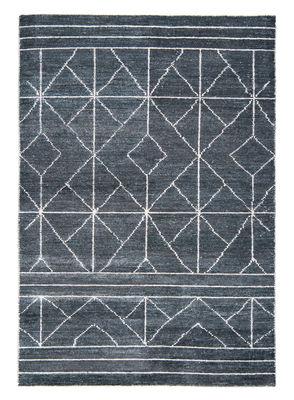 Tapis Casbah / 170 x 240 cm - Noué main - Toulemonde Bochart blanc,gris en tissu