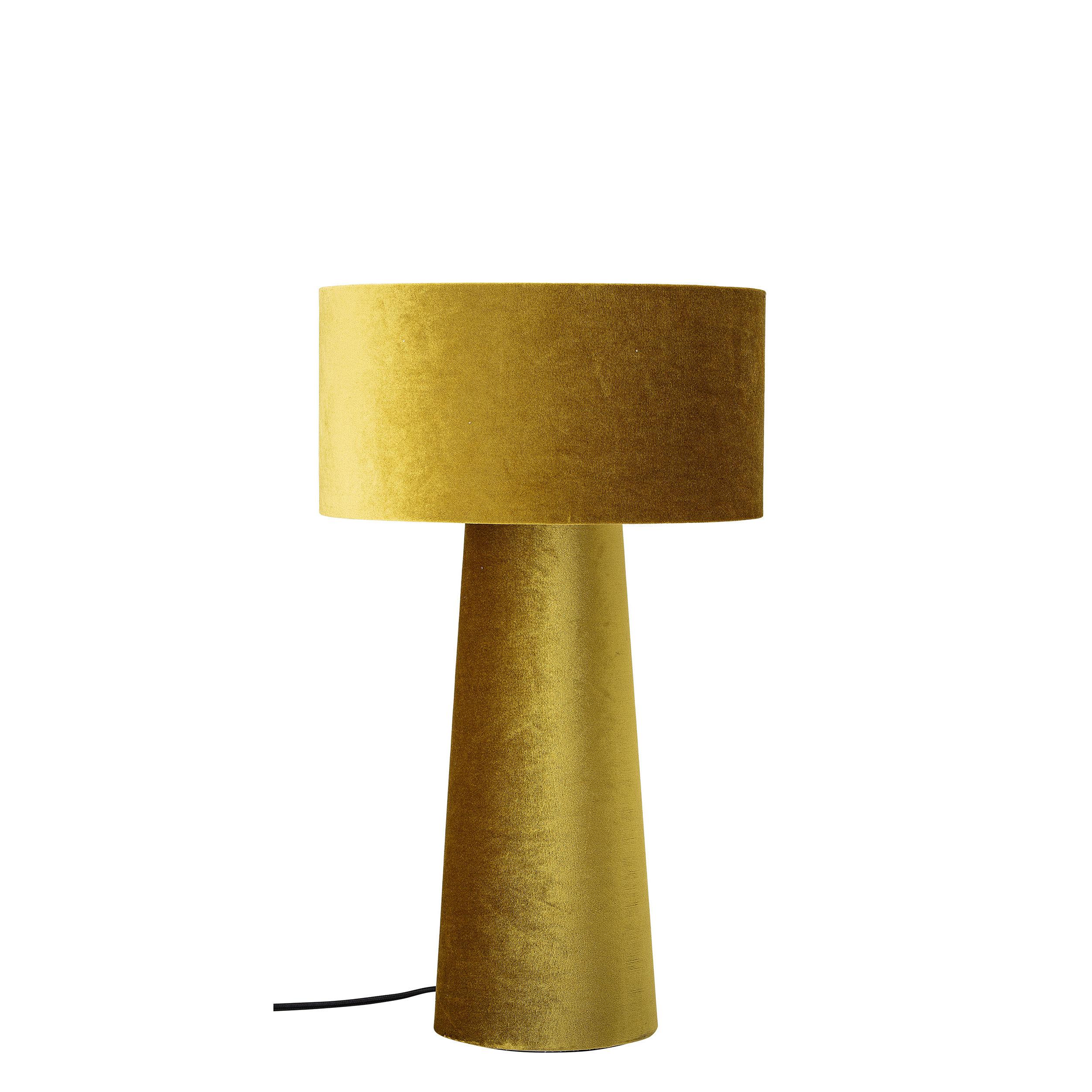 Leuchten - Tischleuchten - Tischleuchte / Samt - H 50 cm - Bloomingville - Goldgelb - Metall, Velours