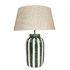 Palmaria Large Tischleuchte / H 59 cm - Keramik & Bast - Maison Sarah Lavoine