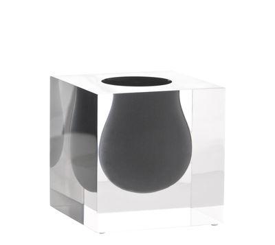 Decoration - Vases - Bel Air Mini Scoop Vase - / Acrylic - Square W 10 cm by Jonathan Adler - Grey / Transparent - Acrylic