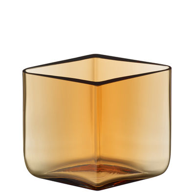 Decoration - Vases - Ruutu Vase - by Ronan & Erwan Bouroullec / 11,5 x 8 cm by Iittala - Sand - Mouth blown glass