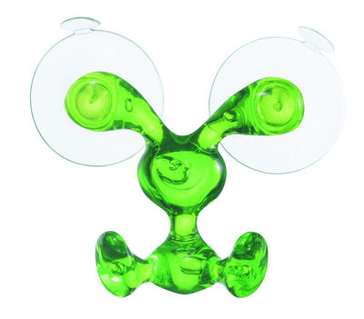 Kitchenware - Fun in the kitchen - Bunny Wall hook - With sucker by Koziol - Transparent green - Plastic material