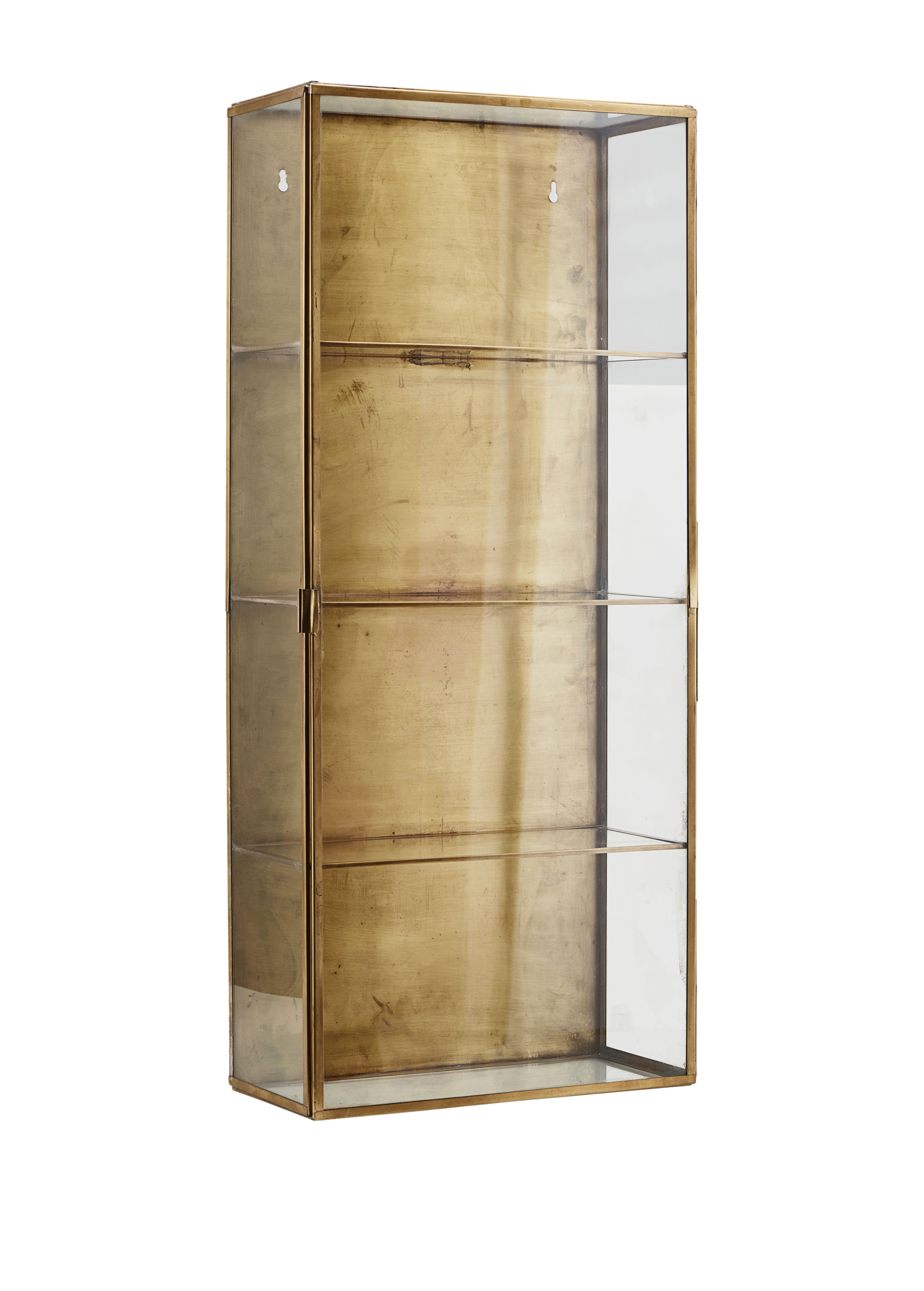 Furniture - Bookcases & Bookshelves - Cabinet Large Wall storage - / Showcase - L 35 x H 80 cm by House Doctor - Large / Brass - Brass, Glass
